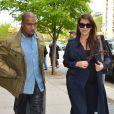 Kanye West et Kim Kardashian se promènent à New York, le 6 mai 2013.