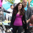 Megan Fox superbe sur le tournage des Tortues Ninja dans le Midtown, New York, le 7 mai 2013.