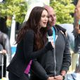 Megan Fox interroge Will Arnett sur le tournage de Tortues Ninja dans le Midtown, New York, le 7 mai 2013.