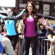 Megan Fox sportive sur le tournage des Tortues Ninja dans le Midtown, New York, le 7 mai 2013.