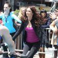 Megan Fox sur le tournage des Tortues Ninja dans le Midtown, New York, le 7 mai 2013.