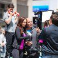 Megan Fox et Will Arnett sur le tournage des Tortues Ninja dans le Midtown, New York, le 7 mai 2013.