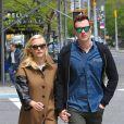 Jaime King, enceinte, et son mari Kyle Newman à New York, le 6 mai 2013.
