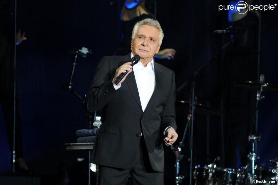 Michel Sardou à Bercy le 12 décembre 2012.