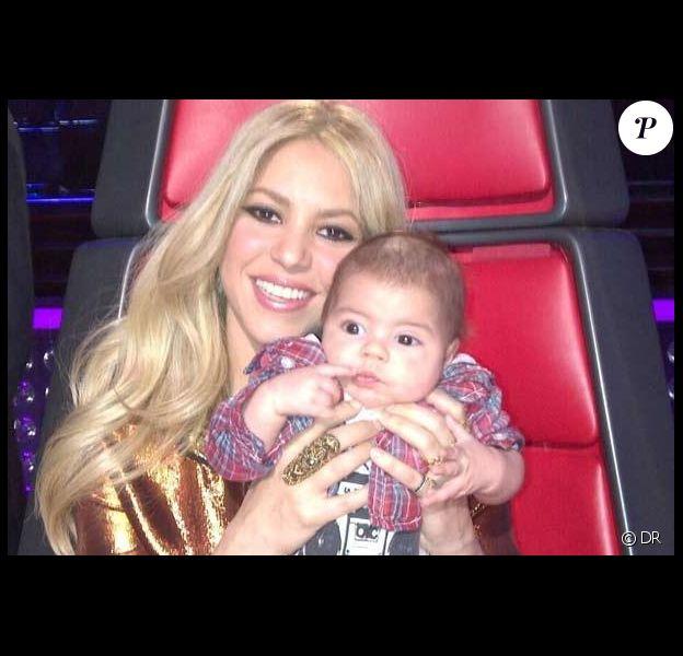 Shakira et son fils Milan sur le plateau de The Voice USA Photo Instagram