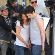 Katie Holmes et Luke Kirby sur le tournage du film Mania Days, à New York, le 14 mai 2013.