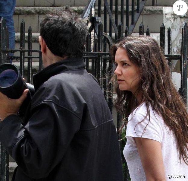 Steve Sands, le photographe grondé par Katie Holmes sur le tournage du film Mania Days, à New York, le 14 mai 2013.