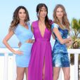 Lily Aldridge, Adriana Lima et Behati Prinsloo dévoilent les noms de la liste What is Sexy et lance la collection de soutien-gorges Multi-Way de Victoria's Secret à l'hôtel Shutters On The Beach. Santa Monica, le 14 mai 2013.
