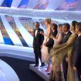 La cérémonie d'ouverture du Festival de Cannes le 15 mai 2013 : les membres du jury et le président Steven Spielberg