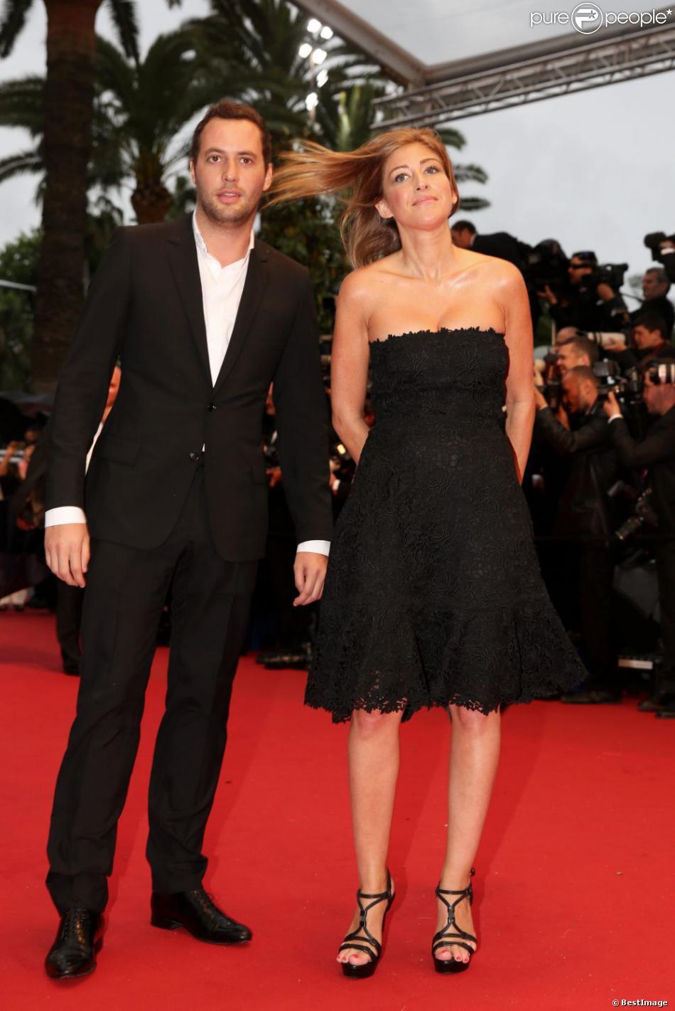 Amanda Sthers et son compagnon Thierry Weinberg lors de la montée des marches le 15 mai 2013 à l'occasion du premier jour du 66e Festival de Cannes