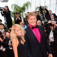 David Hasselhoff et Hayley Roberts à la montée des marches de Jeune Et Jolie, premier film en compétition, au Palais Des Festivals de Cannes, le 16 mai 2013.