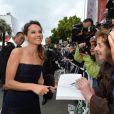 Virginie Ledoyen arrive pour la montée des marches de Jeune Et Jolie, premier film en compétition, au Palais des Festivals de Cannes, le 16 mai 2013.
