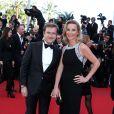 L'animatrice Laurence Ferrari et son mari Renaud Capuçon à la montée des marches du film Le Passé, lors du 66e Festival du film de Cannes, le 17 mai 2013.