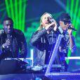 Akon, David Guetta et Ne-Yo sur la scène des Billboard Music Awards à Las Vegas, le 19 mai 2013.