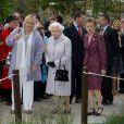 La reine Elizabeth II lors du Chelsea Flower Show, lors de la journée d'inauguration VIP de l'exposition, le 20 mai 2013 à Londres.