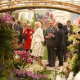 Charles et Camilla au Chelsea Flower Show, lors de la journée d'inauguration VIP de l'exposition, le 20 mai 2013 à Londres.