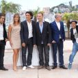 "Malik Benthala (Montre Baume et Mercier) , Julie De Bona (Robe The Koople et bijoux Montblanc), Tewfik Jallab, Fatsah Bouyamed et Jamel Debbouze - Photocall du film ""Ne quelque part"" au 66 eme Festival du Film de Cannes - Cannes 21/05/2013  Call for the movie ""Ne quelque part"" at the 66 th Cannes Film Festival. On may 21st 201321/05/2013 - Cannes"