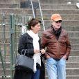 Robert Redford et sa femme Sibylle Szaggars à Paris pour la promotion du film Sous surveillance le 28 avril 2013