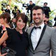Fabien Morreale (Top Chef 2013) et sa compagne Marion Piscione lors de la montée des marches avant la projection du film  Nebraska  à l'occasion du 66e Festival de Cannes le 23 mai 2013