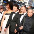 Christian Clavier, Pierre-Francois Martin-Laval, Kev Adams, Stéfi Celma, Alice David et une partie du casting du film  Les Profs  lors de la montée des marches avant la projection du film  Nebraska  à l'occasion du 66e Festival de Cannes le 23 mai 2013