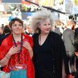 Yolande Moreau et Miss Ming lors de la montée des marches avant la projection du film  Nebraska  à l'occasion du 66e Festival de Cannes le 23 mai 2013