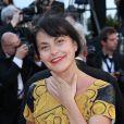 """La chanteuse Lio - Montée des marches du film """"Nebraska"""" du réalisateur Alexander Payne, présenté en compétition, lors du 66e Festival de Cannes, le 23 mai 2013."""
