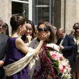 Ingrid Betancourt embrasse sa mère Yolanda