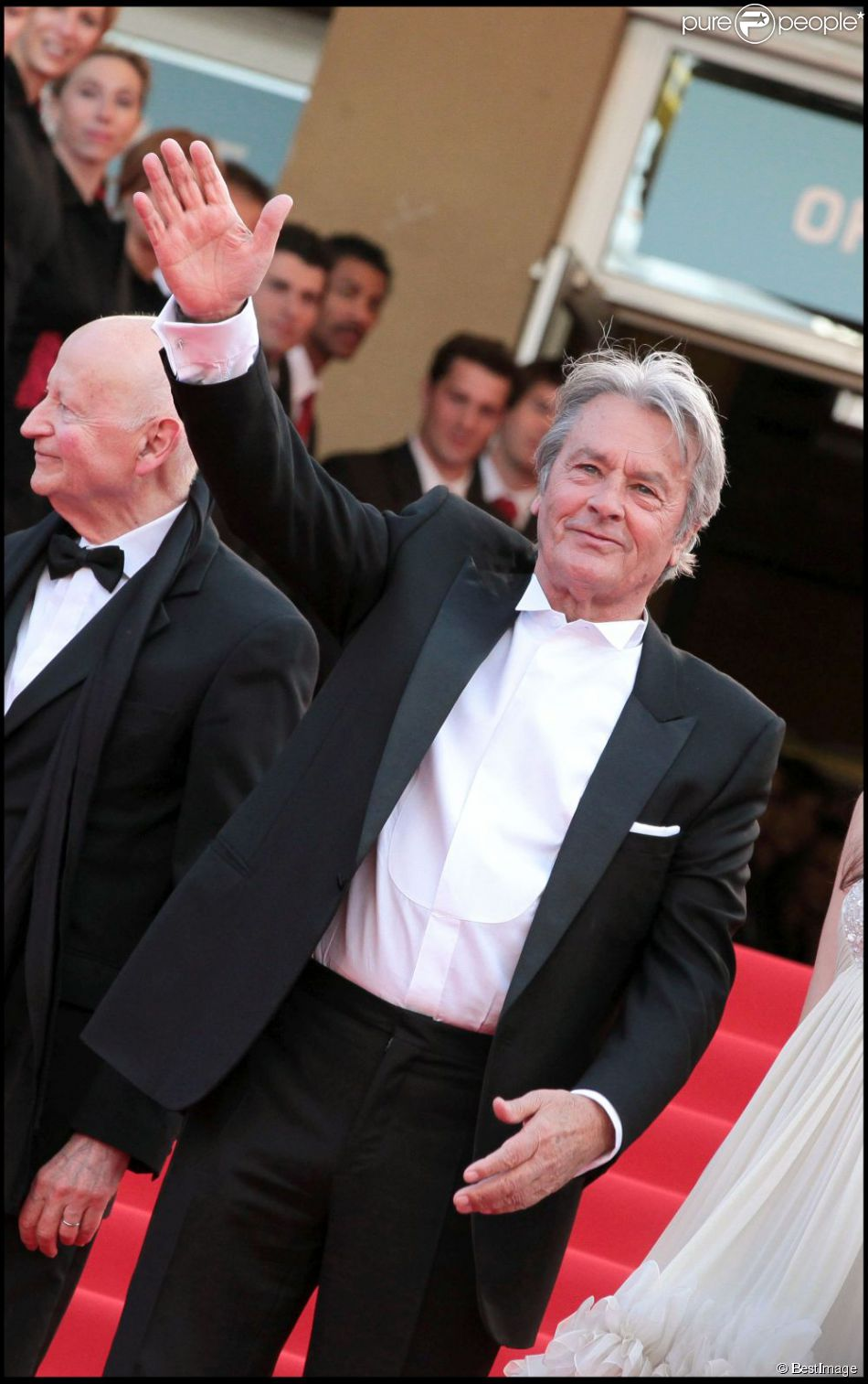 Alain Delon lors du Festival de Cannes 2010