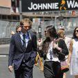 Andrea Casiraghi et sa fiancée Tatiana Santo Domingo arrivant pour le Grand Prix de F1 de Monaco le 26 mai 2013