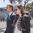 Andrea Casiraghi et sa fiancée Tatiana Santo Domingo arrivant au Grand Prix de F1 de Monaco le 26 mai 2013