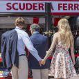 Pierre Casiraghi et sa compagne Beatrice Borromeo visitant les paddocks du Grand Prix de F1 de Monaco le 26 mai 2013