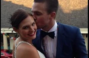 Stephen Amell : Le héros de la série ''Arrow'' dévoile sa photo de mariage