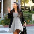 Kim Kardashian arrive au restaurant La Scala pour déjeuner avec son amie actrice Malika Haqq. Los Angeles, le 29 mai 2013.