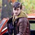 Daniel Radcliffe sur le tournage du film Horns le 29 octobre 2012 au Canada