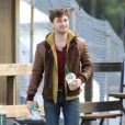 Daniel Radcliffe sur le tournage du film Horns à Los Angeles le 2 octobre 2012