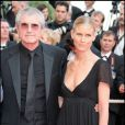 Claude Lelouch et sa fille Sarah lors du Festival de Cannes 2008
