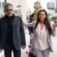 Andrea Bocelli et sa femme Veronica Berti a la sortie du restaurant Il Pastaio a Beverly Hills le 06/06/2013