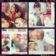 Au mariage de Rachel Legrain Trapani, les filles, Chloé Mortaud, Alexandra Rosenfeld, Sylvie Tellier ou encore Valérie Bègue, s'amusent comme des folls - Twitter et Instagram d'Alexandra Rosenfeld