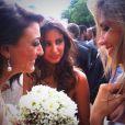 Alexandra Rosenfeld a retwitté une photo d'elle, de Rachel Legrain Trapani et Malika Ménard au mariage de la jolie Rachel - Twitter