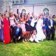 Photo de groupe lors du mariage de Rachel Legrain-Trapani et Aurélien Capoué le 8 juin 2013