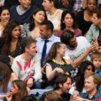 Jo-Wilfried Tsonga et son amie, avec Ramzy Bédia lors du concert de Rihanna au Stade de France. Pas moins de 80 000 personnes ont assisté à ce concert exceptionnel à Paris, le 8 juin 2013