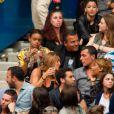 Jean-Roch avec sa petite amie Anais, enceinte, et son frère Dominique Pedri lors du concert de Rihanna au Stade de France. Pas moins de 80 000 personnes ont assisté à ce concert exceptionnel à Paris, le 8 juin 2013