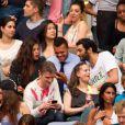 Jo-Wilfried Tsonga, son amie et Ramzy Bédia lors du concert de Rihanna au Stade de France. Pas moins de 80 000 personnes ont assisté à ce concert exceptionnel à Paris, le 8 juin 2013