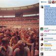 Rihanna remercie tous ses fans français sur Instagram avec une photo de son concert au Stade de France du 8 juin 2013 à Paris