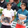 Rafael Nadal s'est imposé face à son compatriote David Ferrer à Roland-Garros, à Paris le 9 juin 2013.
