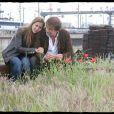 Mathilde Seigner et Olivier Marchal sur le tournage de La Faute des Mères