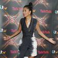 Nicole Scherzinger prend la pose aux auditions de l'émission X Factor à Birmingham, le 10 Juin 2013.