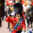 Le prince William, colonel des Irish Guards, le 15 juin 2013, lors de la parade Trooping the Colour, à la gloire des forces armées et de l'anniversaire de la souveraine, Elizabeth II.