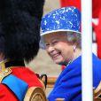 La reine Elizabeth II le 15 juin 2013 lors de la parade militaire Trooping the Colour, à Londres.