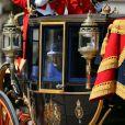 L'arrivée de la reine Elizabeth II à Horse Guards Parade, à Londres le 15 juin 2013, lors de la cérémonie Trooping the Colour, à la gloire des forces armées et de l'anniversaire de la souveraine.